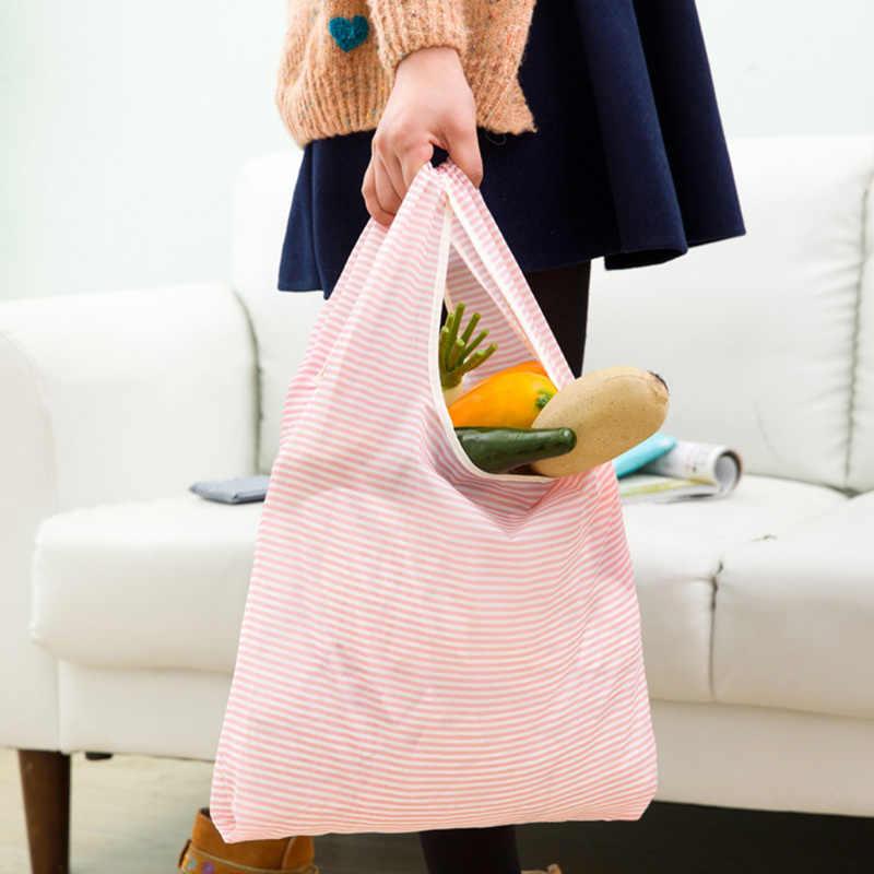 Gabwe Effen Recycle Boodschappentas Custom Eco Herbruikbare Reizen Tote Bag Nylon Schouder Opvouwbare Pouch Handtassen Printing Boek Tas
