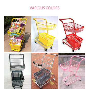 Double deck shopping cart, with basket, luggage cart, shopping cart resin kits 1 35 stalingrad s 3011 russian refugees with cart set indue 4 figures cart horse and possess free shipping
