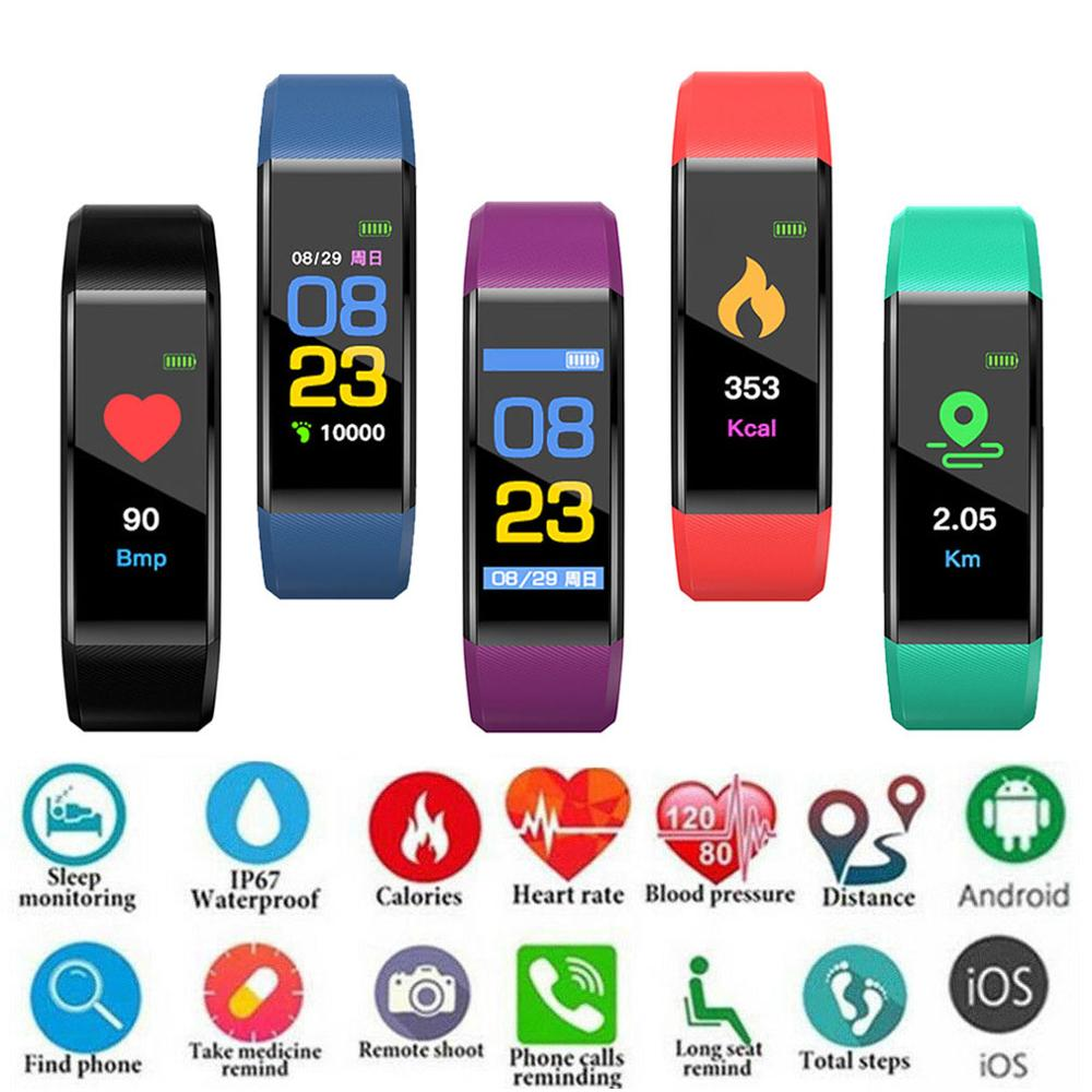 Smart Band Watch Bracelet Waterproof Sport Fitness Tracker Smartband Wristband Heart Rate Blood Pressure Healthy Monitor Band