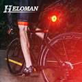 USB Charging LED Cycling Taillight Bicycle Flashlight for Mountain Road Bike Safety Warning Lamp Rear Light 5 Mode Waterproof|Bicycle Light| |  -