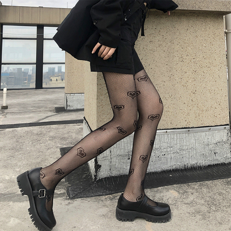 Sexy Pantyhose Black Women Tights Party Hollow Out Female Mesh Stocking New Arrive Slim Fishnet Stockings Club Wear Hosiery