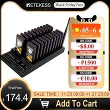 Le téléavertisseur de Restaurant de Retekess T112 avec 20 récepteurs de téléavertisseur prennent en charge maximum 999 Beepers pour le système de file dattente de radiomessagerie sans fil de Restaurant
