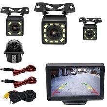 BYNCG Автомобильная камера заднего вида, система парковки заднего вида, комплект 5 дюймов, TFT lcd монитор заднего вида, водонепроницаемая камера ночного видения