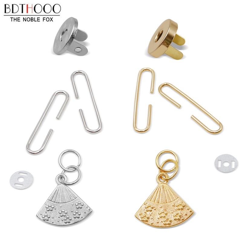 10sets/lot 5cm Fan-shaped Coin Purse Frame Bag Clasp Clutch Kiss Clasp Lock Retro C-shaped Frame For Bags Accessories