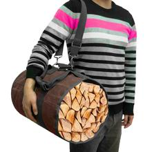 Firewood transport bag canvas tote bag wood carrier Tent Accessories Outdoor Firewood storage outdoor firewood storage bag
