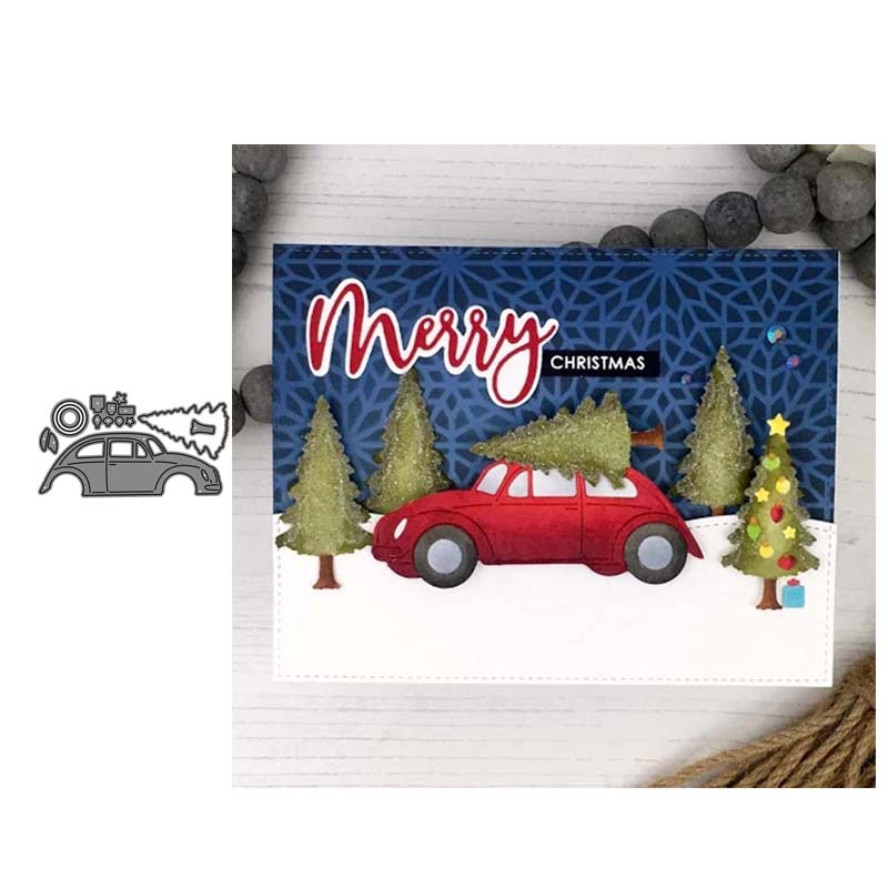 Christmas Red Truck Tree Paper Die Cut Paper Scrapbook Embellishment Cardmaking