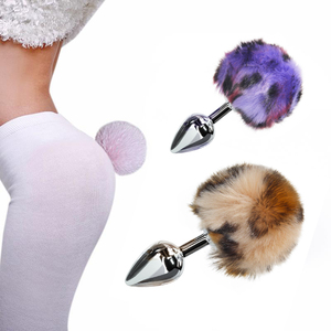Metal Anal Toys Rabbit Tail Anal Plug Erotic Anus Toy Butt Plug Sex Toys For Woman And Men Sexy Butt Plug Adult Accessories