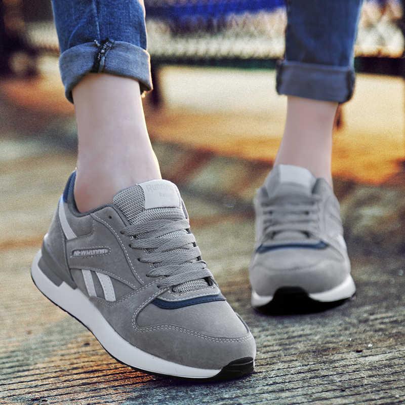 ผู้หญิงหนังรองเท้าผ้าใบUnisex Casualรองเท้าBreathable Anti-Slipกลางแจ้งคู่แฟชั่นขนาดใหญ่Vulcanizedรองเท้า