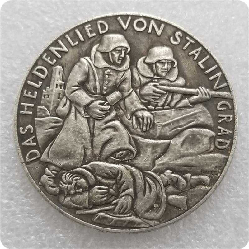 1945 Soliders Germany Coins Silver Plated Coin Copy Old Coins For Collection Gift Bedge