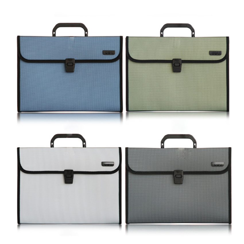 A4 12-pocket Expanding Wallet Paper Holder Document Storage Organizer Bag File Folder Business Briefcase School Stationery