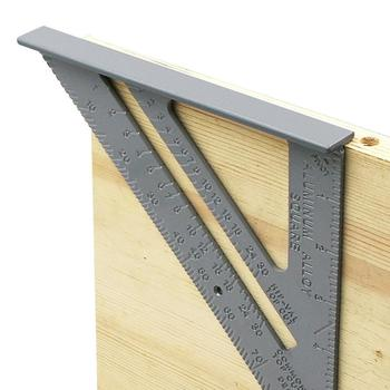 Triangle Rule 90 Degree Thickening Angle Rule Aluminum Alloy Carpenter Measurement Square Ruler precision aluminum alloy level ruler with level bubble mm scale rule for building decoration measurement tool