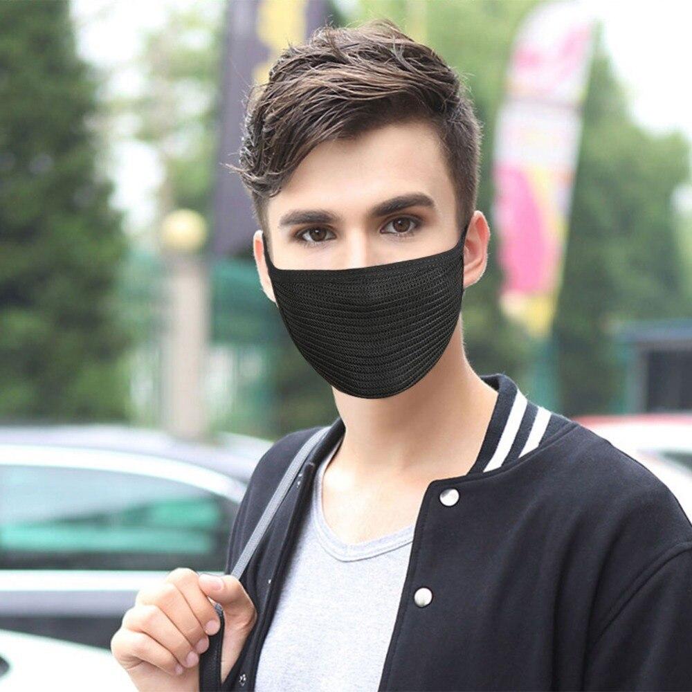 1pc Mask Unisex Men Women Anti Haze Black Mouth Masks Cotton Anti-Dust Windproof Motorcycle Cycling Filter Respirator Ride Masks