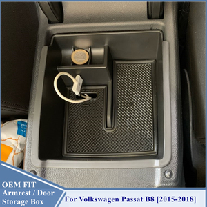 Passat B8 Console Armrest Storage Organizer Passat B8 2015 2016 2017 2018 Armrest Box For VW Volkswagen Passat B8 Accessories