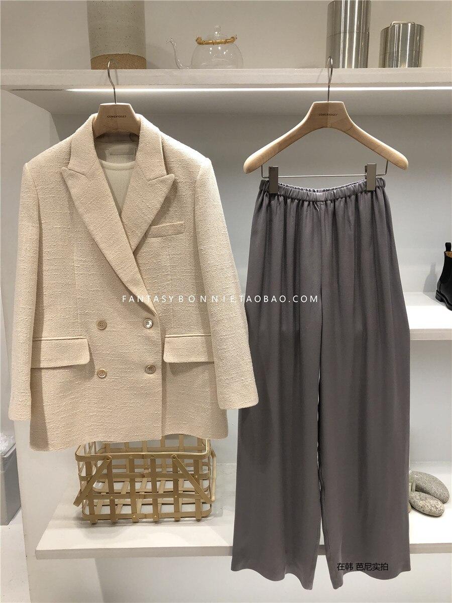 Luxus marke tweed blazer top hohe qualität Designer Blazer Jacke Frauen dünner blazer jacke biege farbe 2019 neue-in Blazer aus Damenbekleidung bei  Gruppe 2