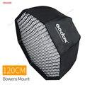 Godox SB-UE 120 см 47in портативный восьмиугольный зонтик софтбокс с сотовой сеткой для Bowens Mount Studio Flash Softbox CD50 T03P