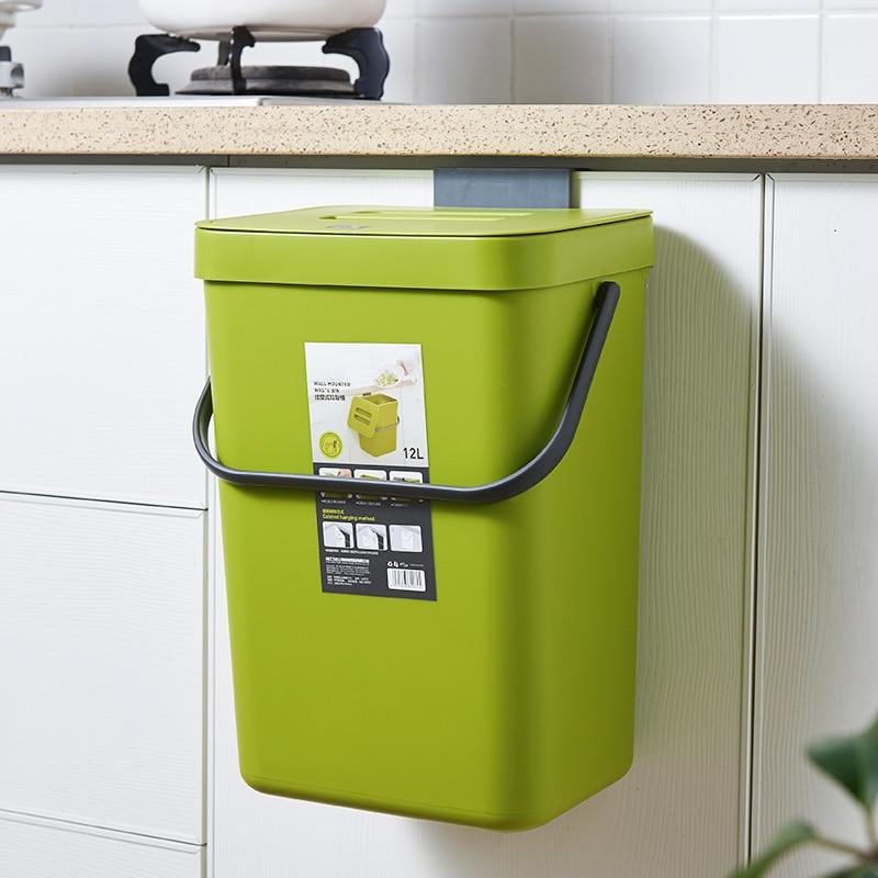 5l Waste Bin Kitchen Cabinet Door, Trash Can For Kitchen Cabinet Door Wastebasket
