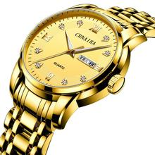 Luxury Crustal Men Watches Waterproof Stainless Steel Quartz Watch Male Date Week Military Clock Wrist Watch Relogio Masculino цена и фото