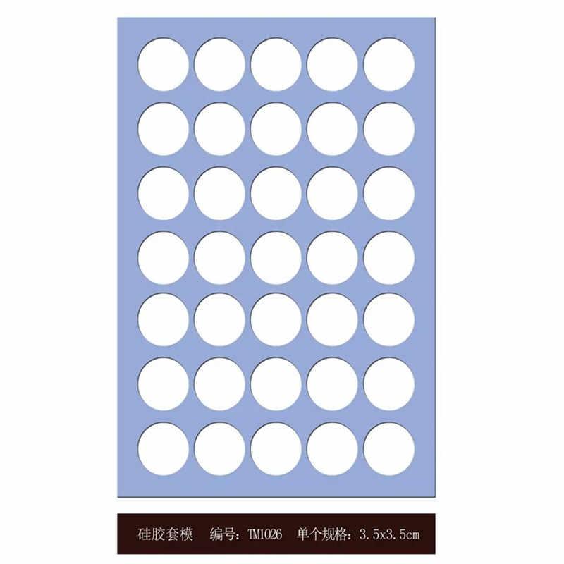 1 sztuka czekoladowe formy silikonowe circule A4 rozmiar grubość 2mm czekolada molde