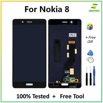 SYART Tested For Nokia 8 N8 LCD Display With Touch Screen Digitizer Assembly For Nokia8 TA-1004 TA-1012 TA-1052 With Free Tools 100% new for nokia 6 2018 nokia 6 1 ta 1043 ta 1045 ta 1050 ta 1054 ta 1068 lcd display with touch screen complete assembly