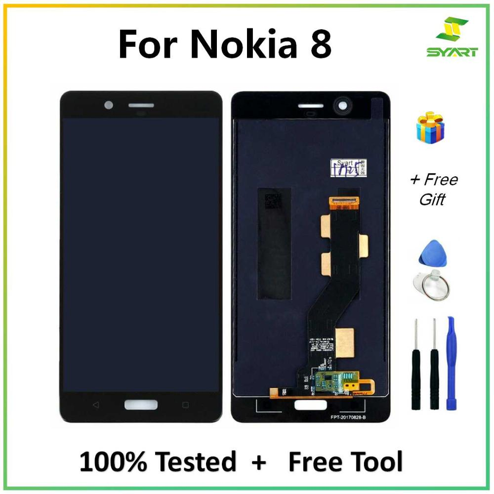 SYART Tested For <font><b>Nokia</b></font> 8 N8 LCD Display With Touch Screen Digitizer Assembly For Nokia8 <font><b>TA</b></font>-<font><b>1004</b></font> <font><b>TA</b></font>-1012 <font><b>TA</b></font>-1052 With Free Tools image