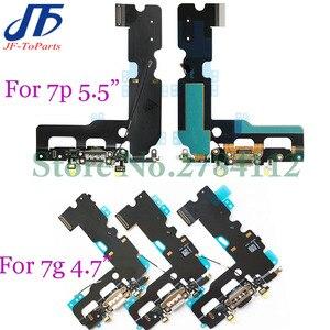 Image 1 - 10 قطعة شاحن USB موصل هيكلي آيفون X 7 8 Plus 7P 8 P 7G 8G شحن ميناء سماعة الصوت جاك فليكس كابل Relacement الجزء