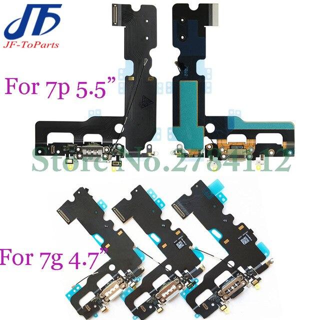 10 قطعة شاحن USB موصل هيكلي آيفون X 7 8 Plus 7P 8 P 7G 8G شحن ميناء سماعة الصوت جاك فليكس كابل Relacement الجزء