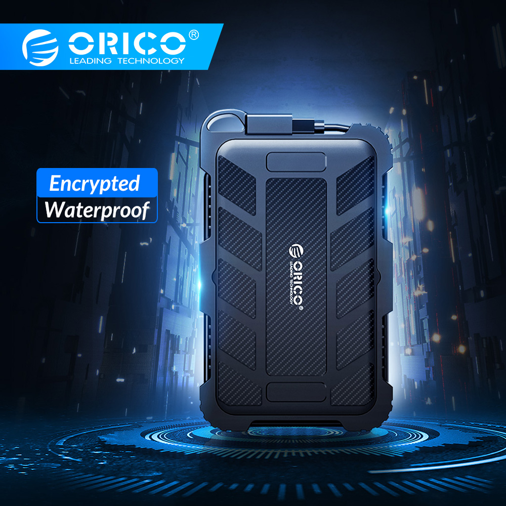 ORICO Encrypted Hard Drive Enclosure 2.5 Inch SATA To USB 3.0 HDD Case Waterproof Shockproof Dustproof UASP Encrypted HDD Box