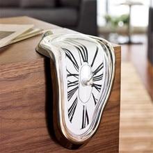 Duvar saati Modern tasarım erime bozuk duvar saati s dekorasyon hediye ev bahçe sürrealist Salvador Dali tarzı duvar saati