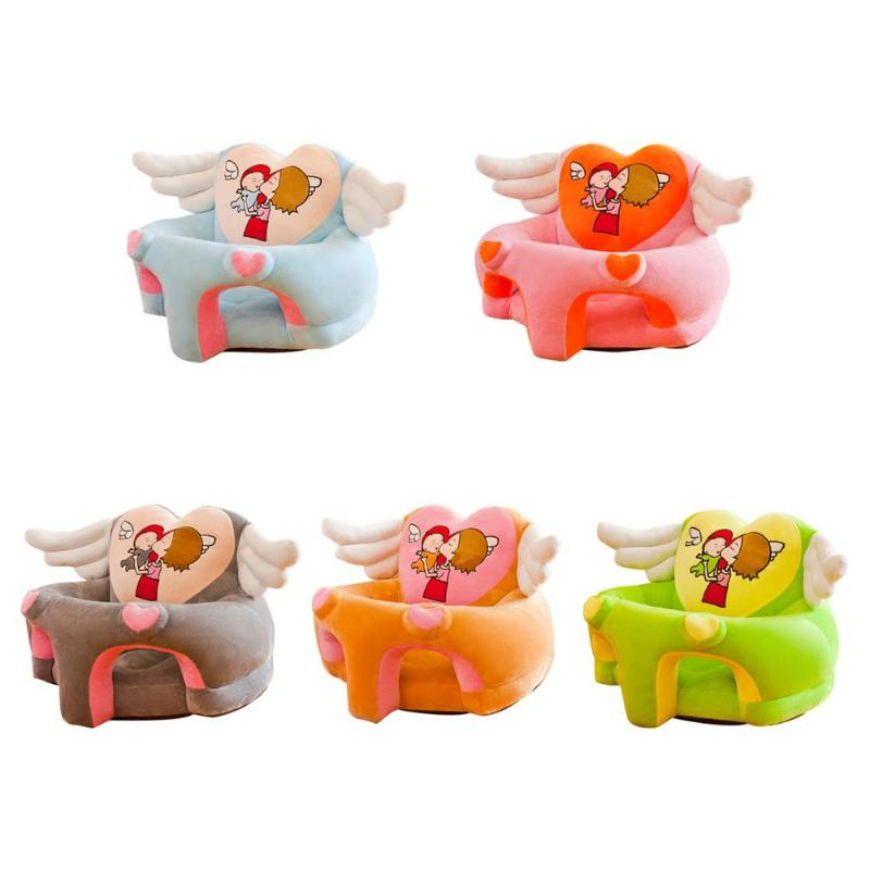 Children Sofa Cover Feeding Chair Skin Soft Seat Case Home Decor Home Furnishing Baby Essential Supplies Crystal Velvet NoCotton