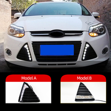 Luz diurna intermitente para coche, luz diurna, resistente al agua, para Ford Focus 3, 2012, 2013, 2014, 2015