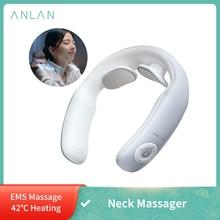 ANLAN – masseur intelligent pour le cou et les épaules, à impulsion électrique, Portable, chauffage, soulagement de la douleur et du Stress, soins de santé