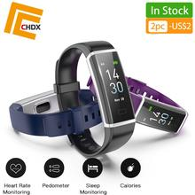 CHDX Bluetooth Smart Bracelets Heart Rate Monitor Touchscreen Wristbands Fitness Traker Sport Swiming Waterproof IP68