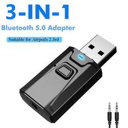 USB Bluetooth 5,0 приемник-передатчик с микрофоном адаптер 3 в 1 адаптер EDR ключ 3,5 мм AUX для ТВ ПК наушников домашняя стереосистема для автомобиля HIFI ...