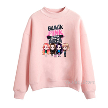 Kpop blackpink hoodie Korean style fans clothes winter hip hop sweatshirts hoody tracksuit pink hipster streetwear