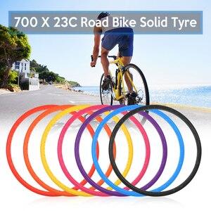 1 pc 700x23c pneus de bicicleta de estrada de pneu sólido ciclismo sem câmara pneu roda à prova de explosão livre de pneus de bicicleta inflável|Pneus de bicicleta|   -