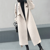Winter Alpaca Coat Women Cashmere Wool Coats With Belt High Quality Camel