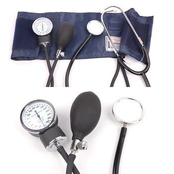 Medical Doctor Stethoscope Manual Blood Pressure Monitor Pressure Diastolic ARM Sphygmomanometer Cuff Tonometer Health Monitor adult arm blood pressure cuff belt 22 32cm 22 42cm tonometer sphygmomanometer upper cuff for arm blood pressure monitor meter