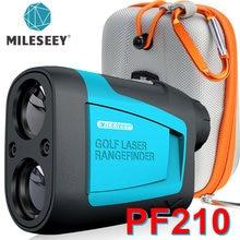 Mileseey pf210 600m yd golf laser rangefinder mini golf rangefinder esporte medida a laser distância medidor de golfe para caça