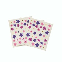 Purple Flower transfer water decal Nail Art pink Floret pattern nail sticker Decoration for Manicure Watermark 3Pcs  E11