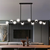 Esszimmer Decke Kronleuchter Suspension Horizontale Glas Kugeln Kronleuchter Küche Hängen Lampe Büro Rezeption Lichter