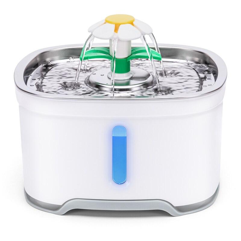 2.4L automatyczny kot domowy fontanna z LED elektryczny USB pies kot Pet automatyczny automat do wody dozownik
