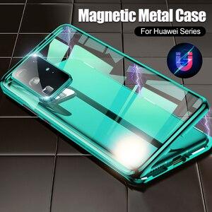 360 Передний + задний двойной чехол из закаленного стекла для телефона Huawei P40 Pro Защита объектива камеры Магнитная адсорбционная крышка