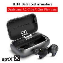 Mifo O5 Pro Bluetooth 5.2 Tws aptx prawdziwe bezprzewodowe wkładki douszne zbalansowane słuchawki Bluetooth CVC 8.0 redukcja szumów 10H czas odtwarzania