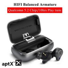 Mifo O5 Pro Bluetooth 5 2 Tws aptx prawdziwe bezprzewodowe wkładki douszne zbalansowane słuchawki Bluetooth CVC 8 0 redukcja szumów 10H czas odtwarzania tanie tanio NoEnName_Null Wyważone CN (pochodzenie) Prawdziwie bezprzewodowe inny Apt-X HD Etui ładujące