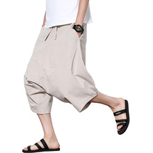 Cropped Pants Loose Comfortable Brand-Clothing Japanese Soft Men's Korean Summer Cotton
