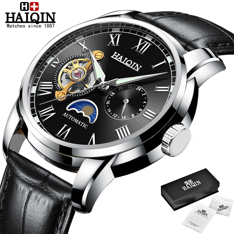 HAIQIN Mechanical watches mens automatic wrist watch for mens watches top brand luxury watch men Tourbillon relojes hombre 2020 18