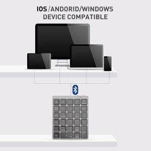 Image 5 - بلوتوث لوحة المفاتيح الرقمية لوحة المفاتيح المحمولة مع USB Hub الخائن سبائك الألومنيوم غطاء لهاتف أندرويد باد ماك بوك ويندوز