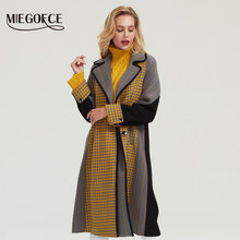 MIEGOFCE 2019 autumn-winter coat cashmere jacket women Woolen long black trench Slim blazer Dress Loose Gothic trench Outerwear(China)