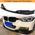 Автомобильный передний бампер для губ разветвители для BMW 3 серии F30 F35 M Sport M Tech 2014-2018 передний диффузор для губ разветвители спойлер PU черный