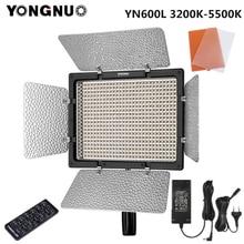 Светодиодная лампа для видеосъемки Yongnuo YN600L YN600 L 3200K 5500K с адаптером переменного тока, поддержка дистанционного управления через приложение для телефона для интервью